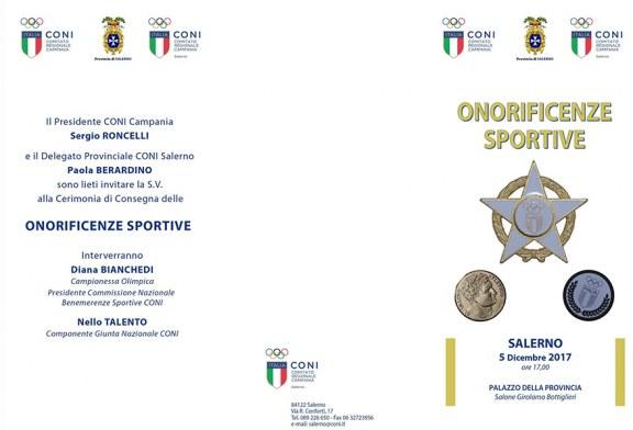 Onorificenze Sportive CONI Salerno