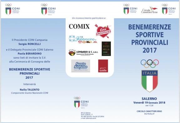 Coni Salerno – Cerimonia Consegna Benemerenze Sportive Provinciali 2017